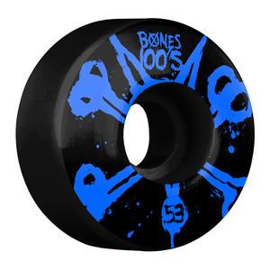 Bones 100's 53mm Skateboard Wheels - Black/Blue