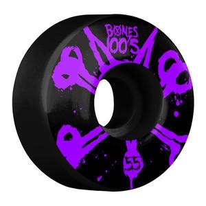 Bones 100's 55mm Skateboard Wheels - Purple/Black