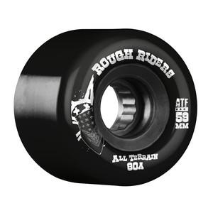 Bones ATF Rough Rider 59mm Skateboard Wheels - Black