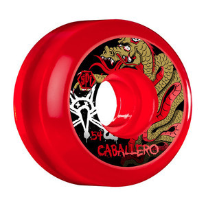 Bones SPF Caballero Dragon Skateboard Wheels - Clear Red