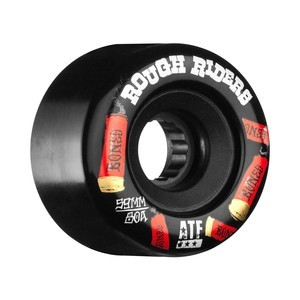 Bones ATF Rough Rider 59mm Skateboard Wheels - Black