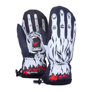 Celtek x Santa Cruz Bitten by a Mitten Men's Snowboard Mitts - Screaming Hand