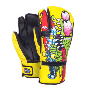 Celtek x Santa Cruz Trippin Men's Snowboard Trigger Mitts - Slasher