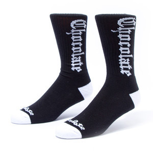 Chocolate Eazy-C Socks — Black
