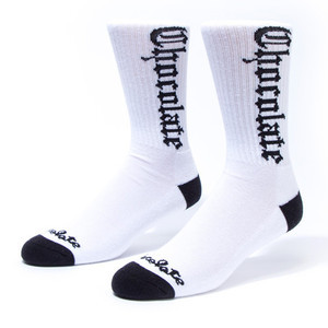Chocolate Eazy-C Socks — White
