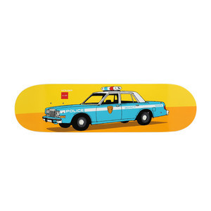 "Chocolate x HUF New York City Cop Car 8.25"" Skateboard Deck"