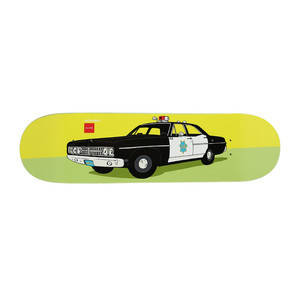 "Chocolate x HUF San Francisco Cop Car 8.5"" Skateboard Deck"