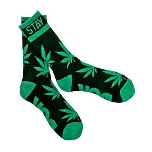 DGK Stay Smokin' Crew Socks — Black/Green