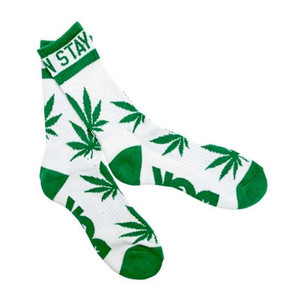 DGK Stay Smokin' Crew Socks — White/Green