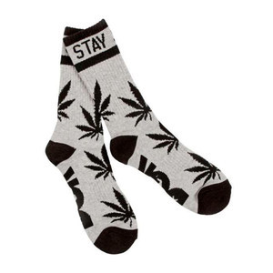 DGK Stay Smokin' Crew Socks — Heather/Black