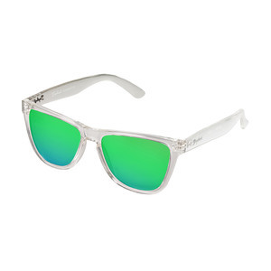 Daybreak Polarised Sunglasses - Crystal Clear/Green