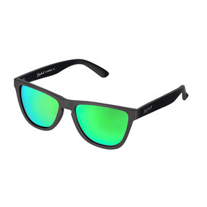 Daybreak Polarised Sunglasses - Jet Black/Green