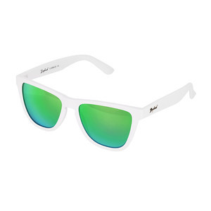 Daybreak Polarised Sunglasses - Snow White/Green