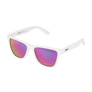 Daybreak Polarised Sunglasses - Snow White/Pink