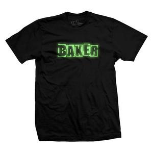 Baker Brand Logo T-Shirt – Black/LED