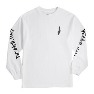 Deathwish Landmark Long Sleeve T-Shirt - White / Black