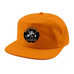 Deathwish Life Sentence 5-Panel Snapback Hat - Orange