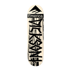 "Deathwish x Emerica Dickson 8.5"" Skateboard Deck - Cream/Black"