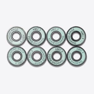 Diamond Rings Hella Fast Abec 3 Skateboard Bearings