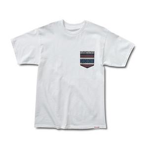 Diamond Fairisle Pocket T-Shirt — White