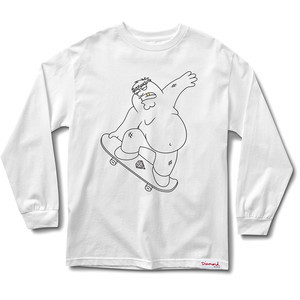 Diamond x Family Guy Peter Griffin Long Sleeve T-Shirt - White