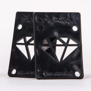 "Diamond Rise & Shine 1/8"" Skateboard Riser Pads — Black"