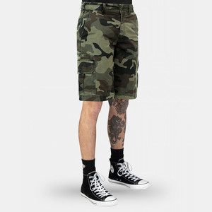 Dickies WR351 Stone Washed Short - Moss Black Camo