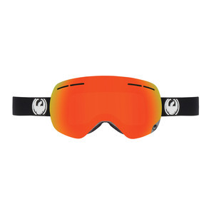Dragon X1S Snowboard Goggle - Inverse / Red Ionised + Bonus Yellow Blue Ionised Lens