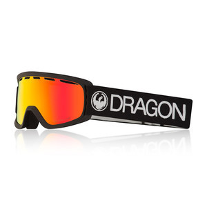 Dragon Lil D Youth Snowboard Goggle 2018 - Black / Red Ion