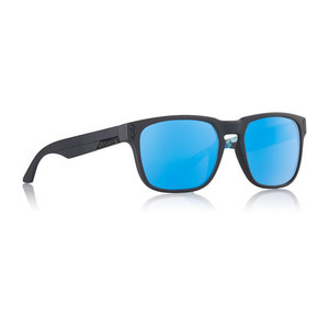 Dragon Monarch Sunglasses - Asymbol Matte Black / Bryan Iguchi Blue Ion