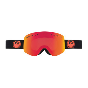 Dragon NFXS Snowboard Goggles — Jet / Red Ionised + Bonus Yellow Blue Ionised Lens