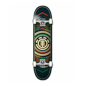 "Element Hatched 8.0"" Complete Skateboard - Red/Green"