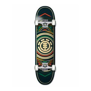 "Element Hatched 8.0"" Complete Skateboard - Red/Green"