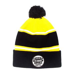 Elm Terror Beanie - Black/Yellow