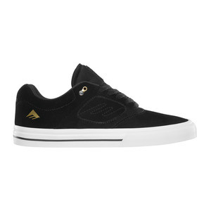 Emerica Reynolds 3 G6 Vulc Skate Shoe - Black/White/Gold