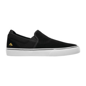 Emerica Wino G6 Slip-On Skate Shoe - Black/White/Gold