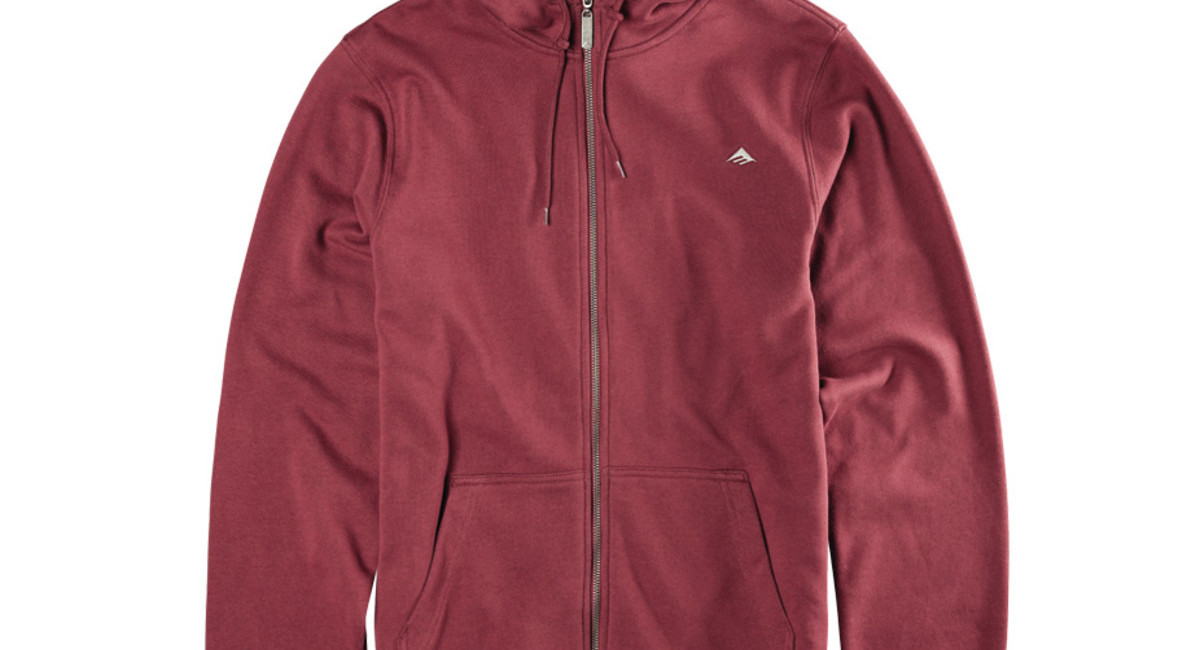 emerica triangle zip hood maroon boardworld store. Black Bedroom Furniture Sets. Home Design Ideas