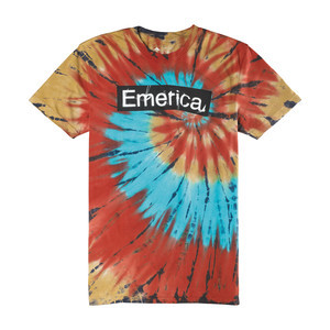 Emerica Pure Sticker Tie-Dye T-Shirt — Maroon