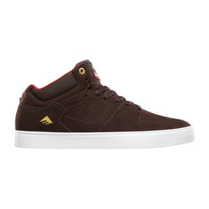 Emerica Hsu G6 x Chocolate Skate Shoe - Brown/White