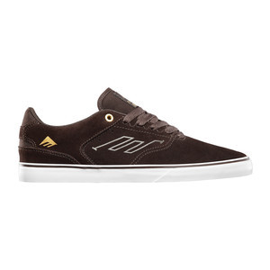 Emerica Reynolds Low Vulc Skate Shoe — Brown/White