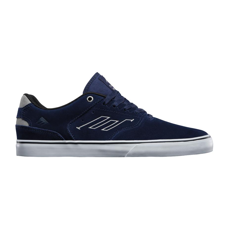 Emerica Reynolds Low Vulc Skate Shoe - Navy/Grey/White   Boardworld Store