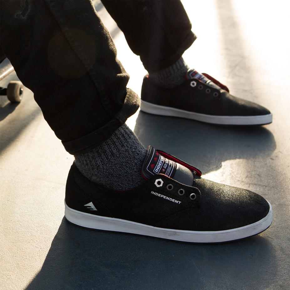 f43a573f426 Emerica x Indy Romero Laced Skate Shoe - Black Grey Black ...
