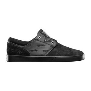 Emerica x Hard Luck Figueroa Skate Shoe — Black/Black