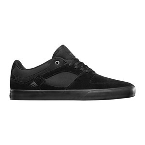 Emerica Hsu Low Vulc Skate Shoe - Black/Black