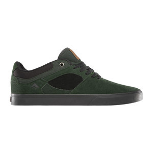 Emerica Hsu Low Vulc Skate Shoe - Green/Black