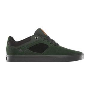 Emerica Hsu Low Vulc Skate Shoe - Green/Black