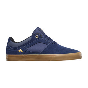 Emerica Hsu Low Vulc Skate Shoe - Navy/Gum