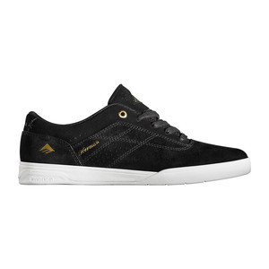 Emerica Herman G6 Skate Shoe — Black/White/Gold