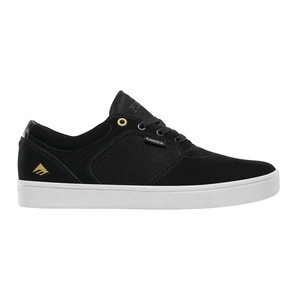 Emerica Figgy Dose Skate Shoe - Black/White/Gold