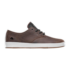 Emerica Romero Laced Skate Shoe - Brown / Grey / White